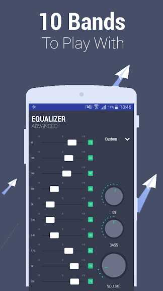 Equalizer – Advanced 10 band EQ with bass booster